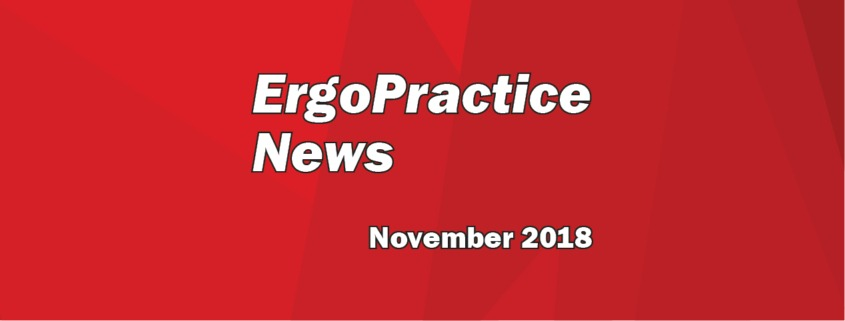 Ergo Practice News logo November 2018