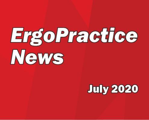 Ergo Practice News logo July 2020