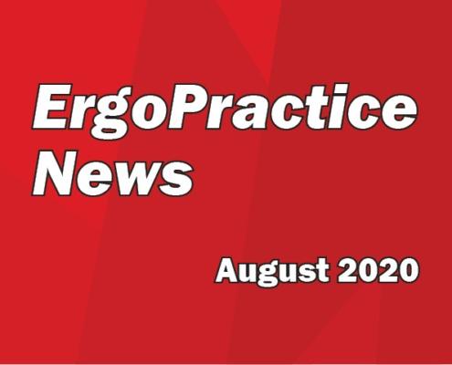 Ergo Practice News logo August 2020