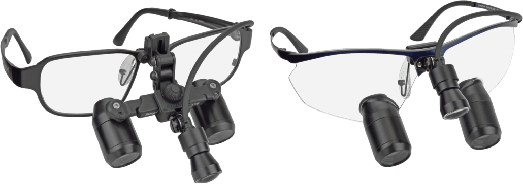 MicroEVK350 loupes in FLM and TTL with Micro LED Headlight